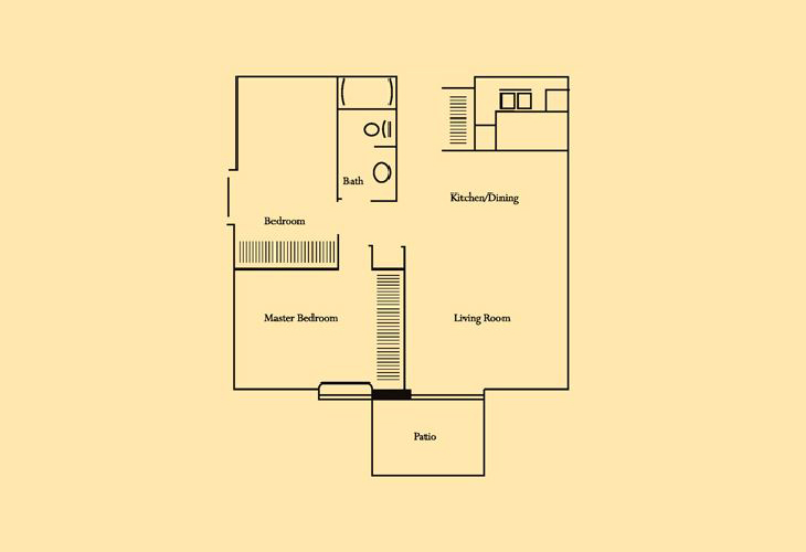 Skyline Ridge Skilled Nursing Two Bedroom 1 Floor Plan
