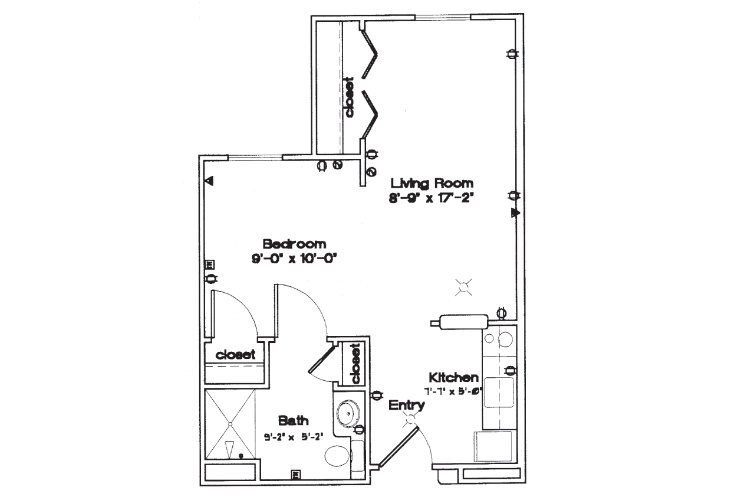 Smith Farms Manor Independent Living Studio Floor Plan