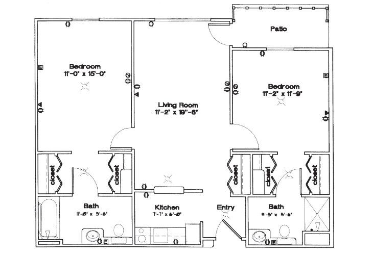 Smith Farms Manor Independent Living Two Bedroom Floor Plan