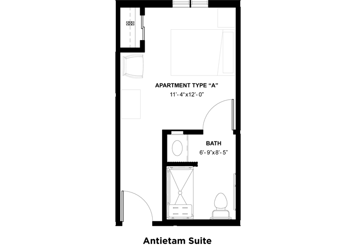Somerford House & Place Hagerstown Memory Care Antietam Suite Floor Plan