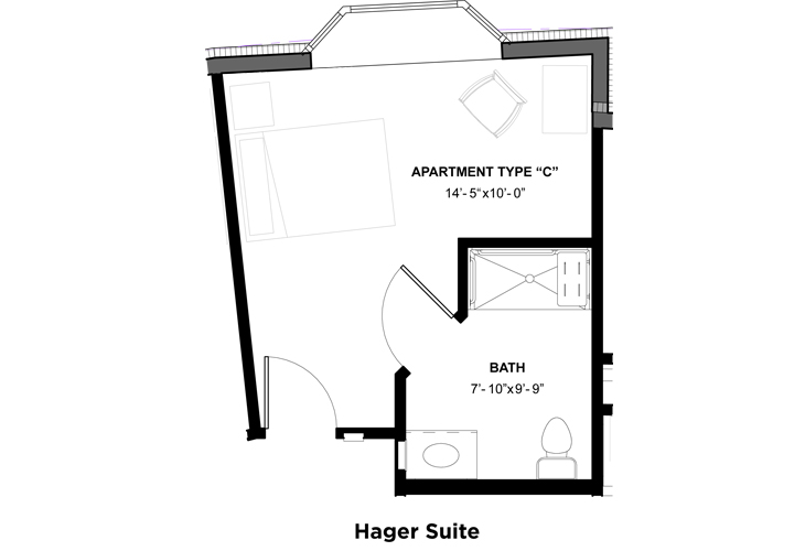 Somerford House & Place Hagerstown Memory Care Hager Suite Floor Plan