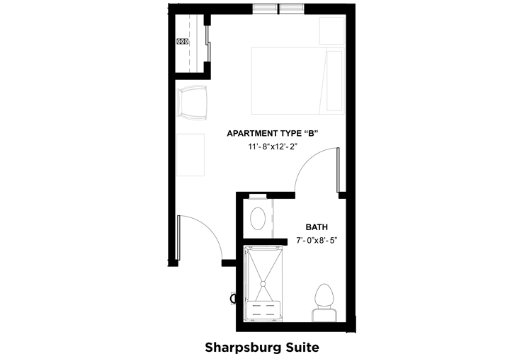 Somerford House & Place Hagerstown Memory Care Sharpsburg Suite Floor Plan