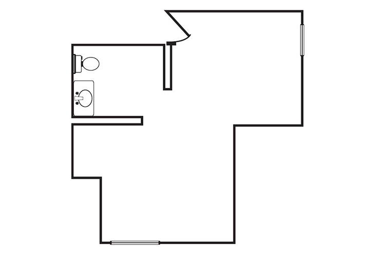 Somerford Place of Redlands Memory Care Shared Suite Floor Plan