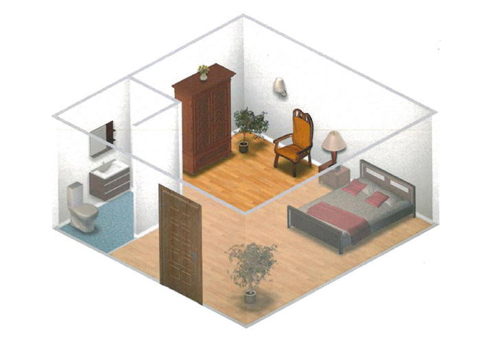 Somerford Place of Stockton Memory Care Private Room Floor Plan