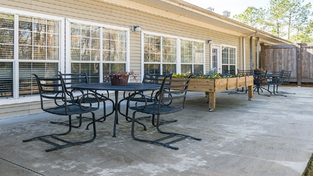 Get some fresh air on the patio