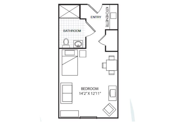 Summit Place of Beaufort Assisted Living Private Suite Floor Plan