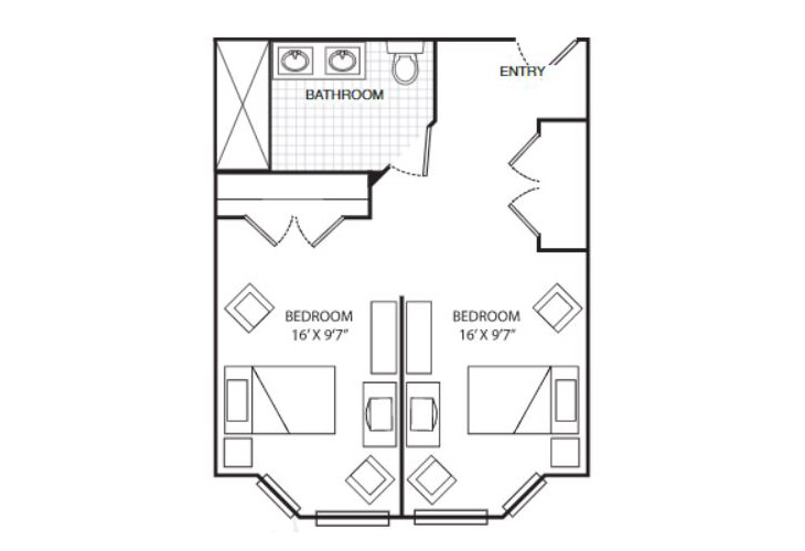 Summit Place of Beaufort Memory Care Dataw Island Friendship Suite Floor Plan