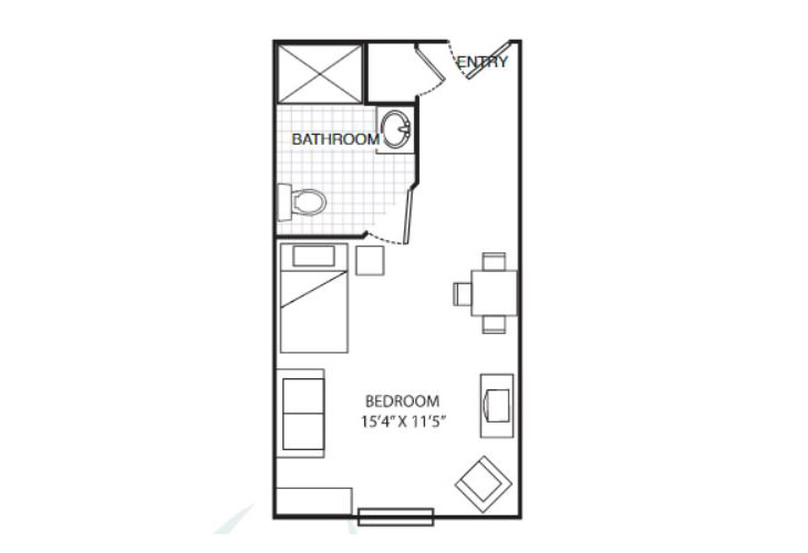 Summit Place of Beaufort Memory Care Dataw Island Studio Floor Plan