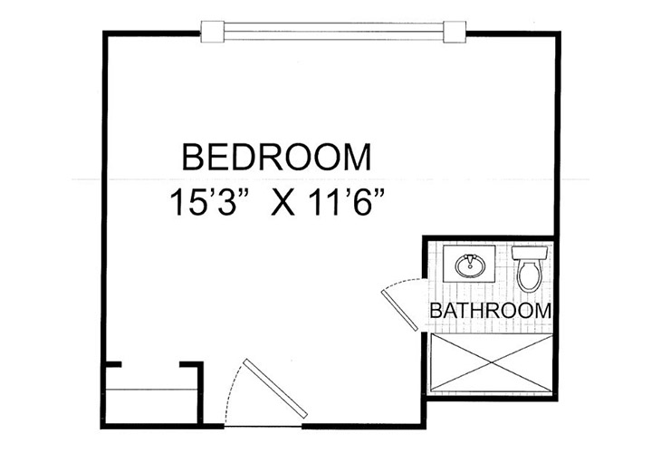 Summit Place of Kings Mountain Memory Care Studio Floor Plan