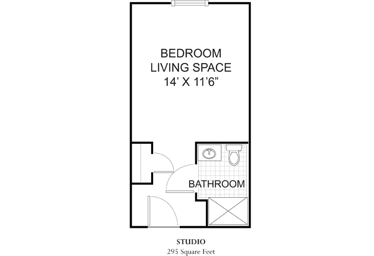 Summit Place of Mooresville Assisted Living Private Suite Floor Plan