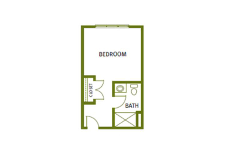 Sweetgrass Village Assisted Living Private Studio Floor Plan