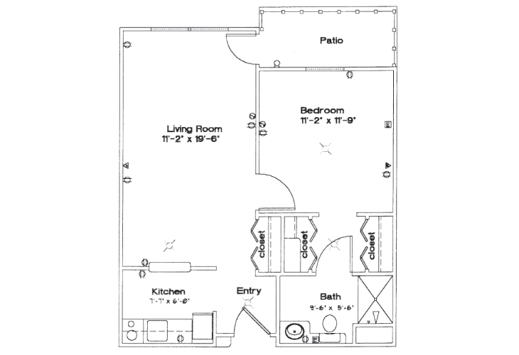 Sycamore Manor Independent Living One Bedroom Floor Plan