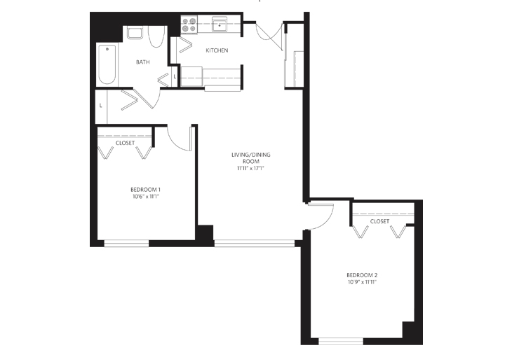 Teaneck Assisted Living Unit 2 PH Floor Plan