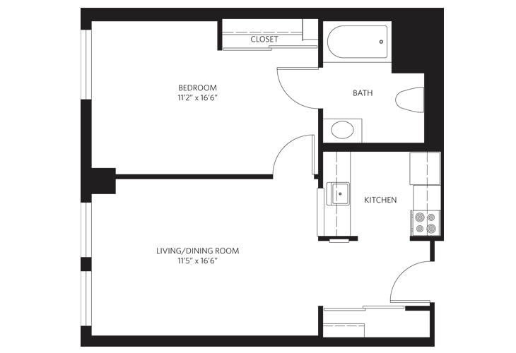 Teaneck Assisted Living Unit A SC Floor Plan
