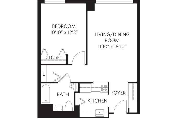 Teaneck Assisted Living Unit B HC Floor Plan