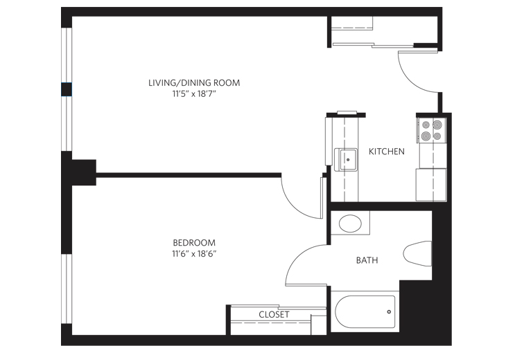 Teaneck Assisted Living Unit B SC Floor Plan