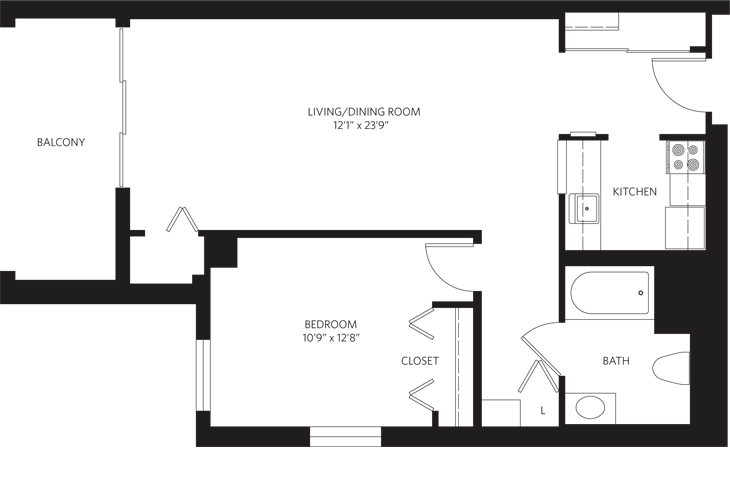 Teaneck Assisted Living Unit J SC Floor Plan