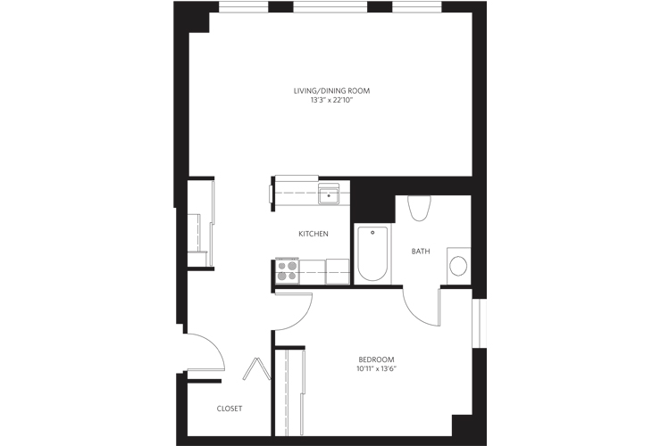 Teaneck Assisted Living Unit M SC Floor Plan