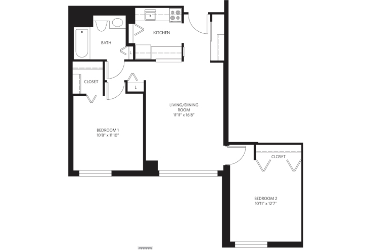 Teaneck Independent Living Unit 21 Floor Plan
