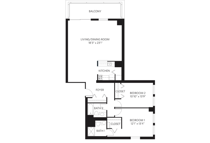 Teaneck Independent Living Unit C Floor Plan