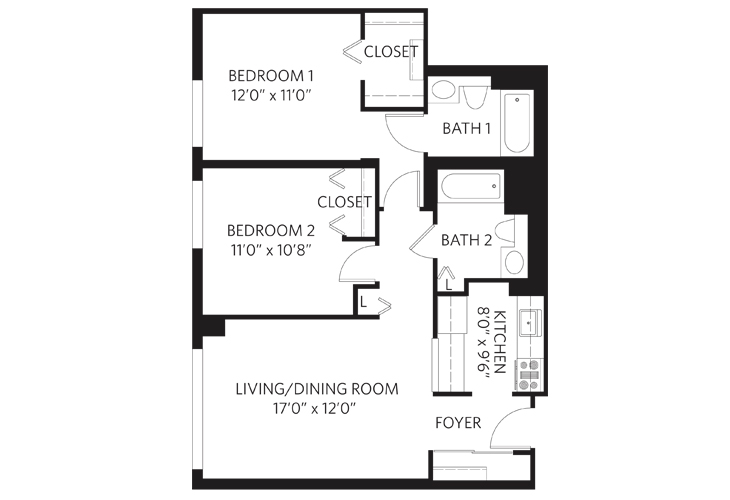 Teaneck Independent Living Unit E Floor Plan