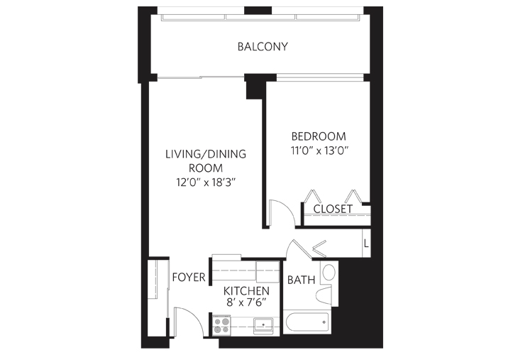 Teaneck Independent Living Unit G Floor Plan