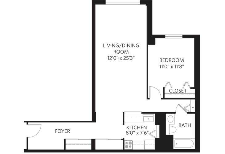 Teaneck Independent Living Unit H Floor Plan