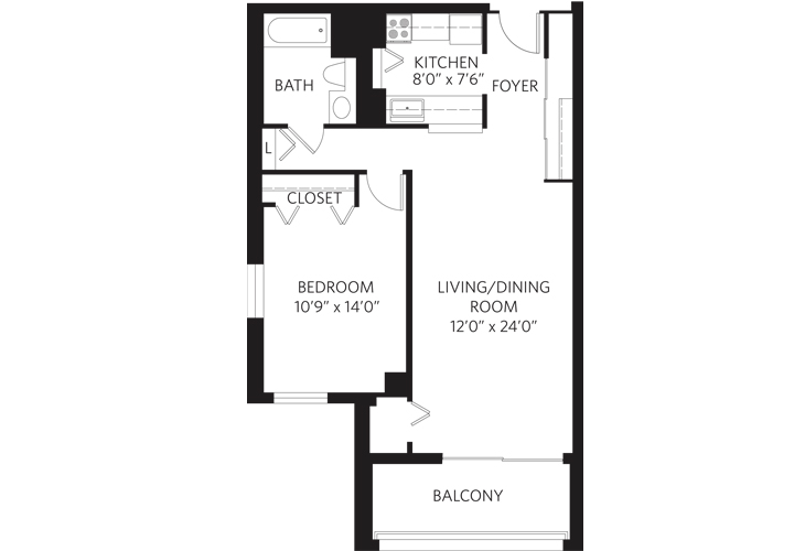 Teaneck Independent Living Unit J Floor Plan