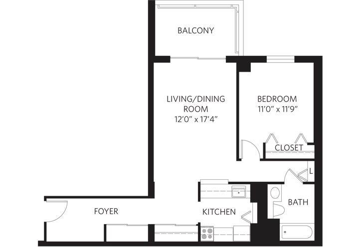 Teaneck Independent Living Unit K Floor Plan