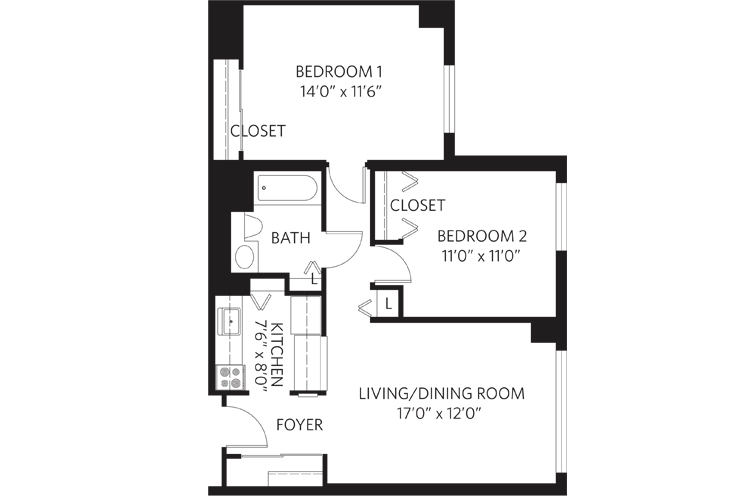Teaneck Independent Living Unit L 1 Floor Plan