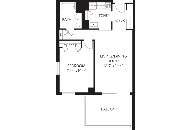 Teaneck Independent Living Unit L Floor Plan
