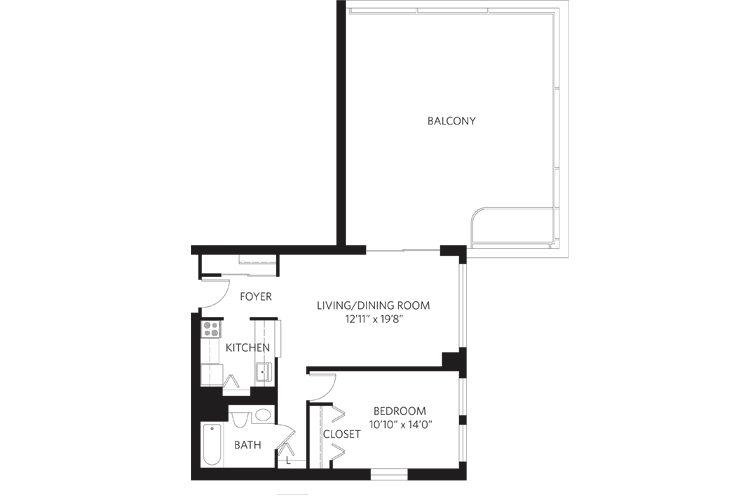 Teaneck Independent Living Unit N Floor Plan