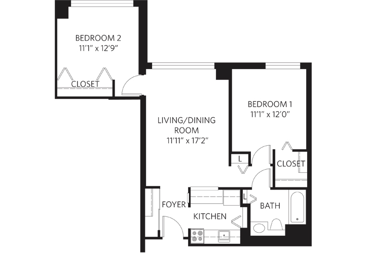 Teaneck Independent Living Unit Q Floor Plan