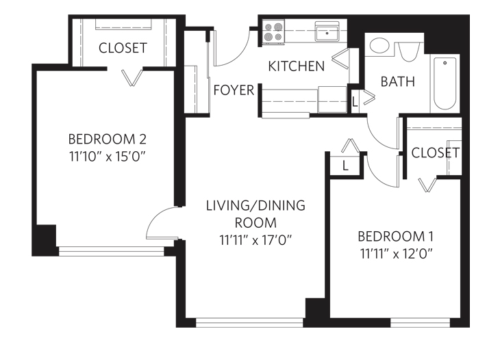 Teaneck Independent Living Unit R Floor Plan