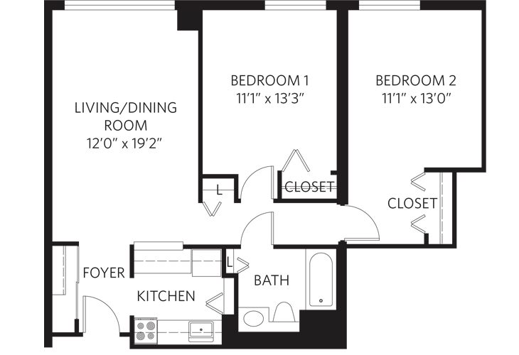 Teaneck Independent Living Unit S Floor Plan