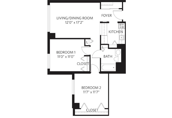 Teaneck Independent Living Unit U Floor Plan