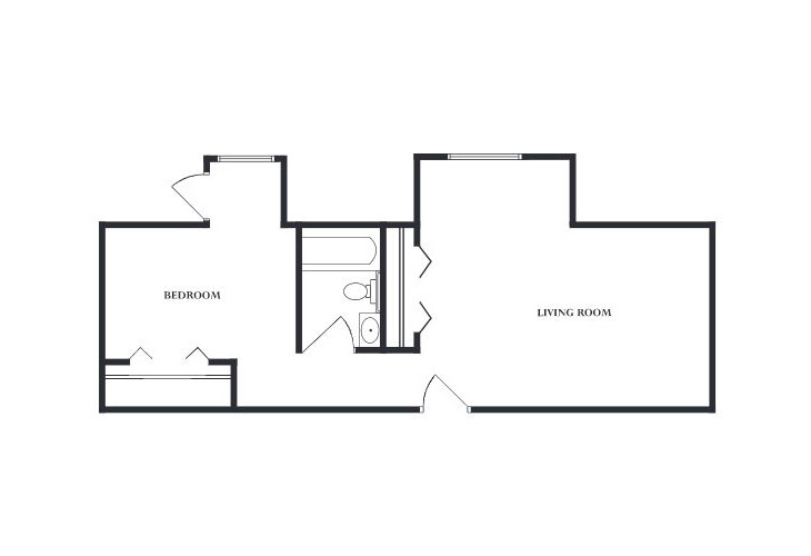 The Devon Memory Care One Bedroom Floor Plan