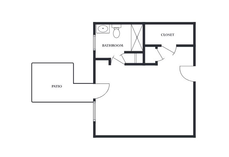 The Devon Memory Care Deluxe Private Studio Floor Plan