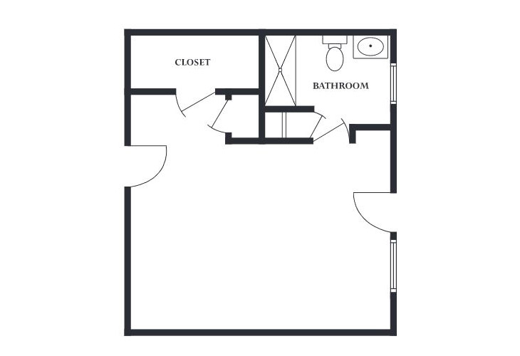 The Devon Memory Care Private Studio Floor Plan