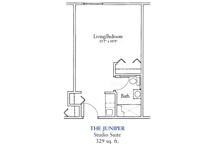 Banta Pointe Assisted Living The Juniper Floor Plan