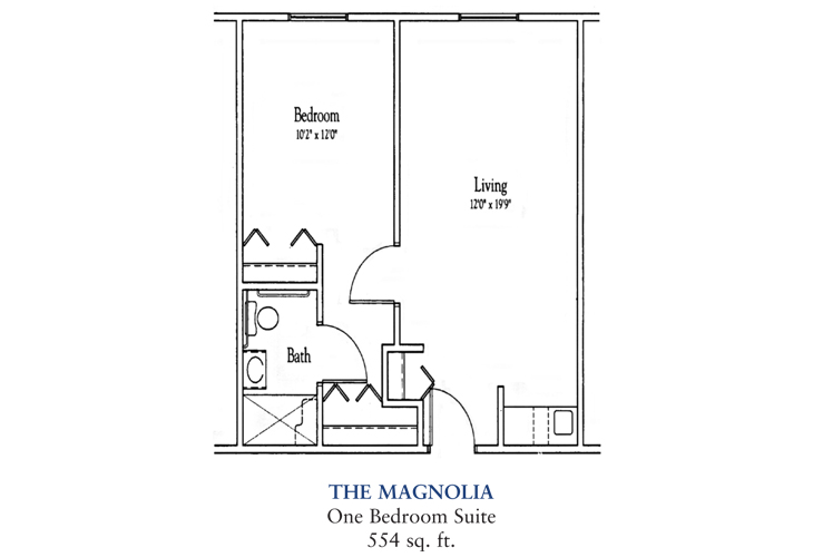 Banta Pointe Assisted Living The Magnolia Floor Plan