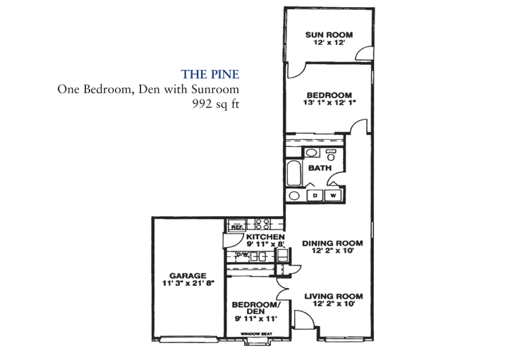 Banta Pointe Independent Living The Pine Floor Plan