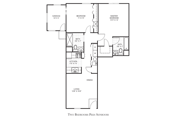 Clearwater Independent Living Jefferson Floor Plan