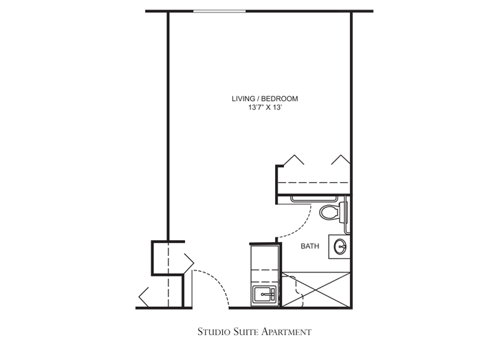 Clearwater Assisted Living Madison Floor Plan