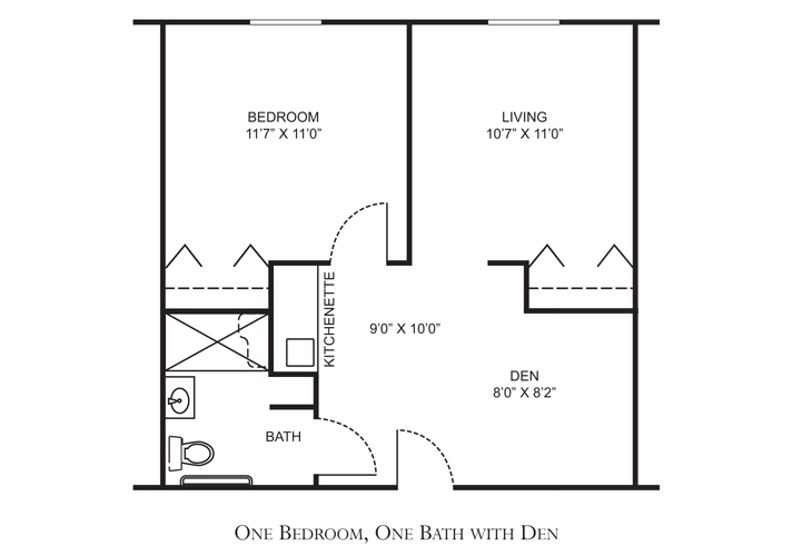 Clearwater Assisted Living Reagan Floor Plan