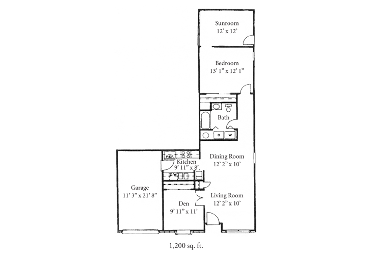 Fort Wayne Independent Living Dover Floor Plan