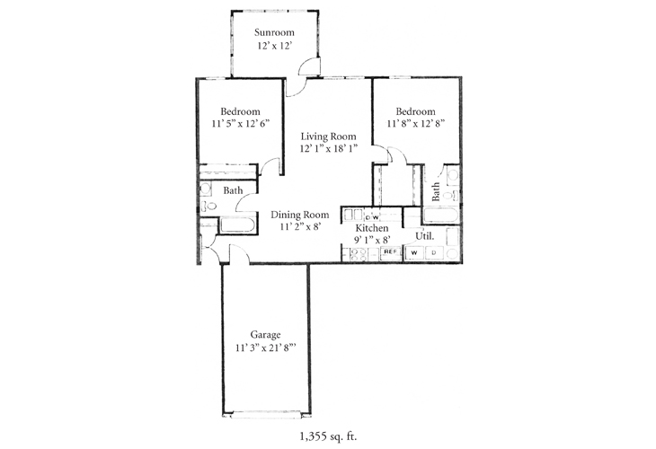Fort Wayne Independent Living Jefferson Floor Plan