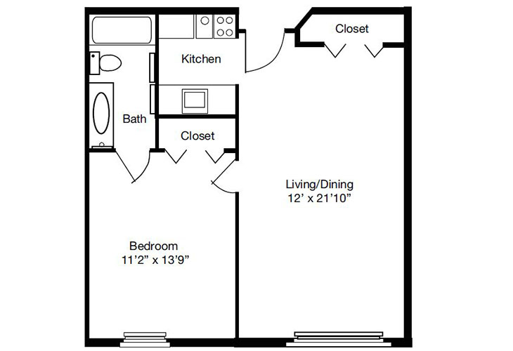 Forum at The Crossing Independent Living Model A Floor Plan