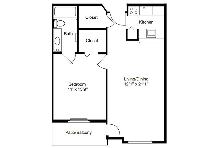 Forum at The Crossing Independent Living Model C Floor Plan