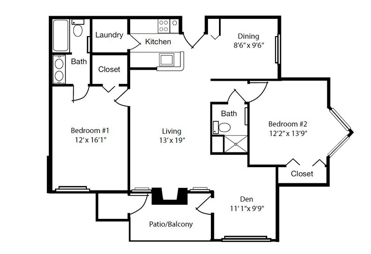 Forum at The Crossing Independent Living Model I Floor Plan
